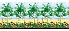 Palm Trees Scene Setter Room Roll 40ft Summer Hawaiian Birthday Party Decoration