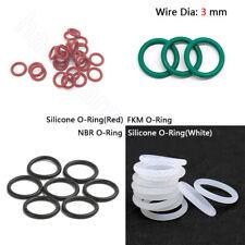 3 mm Silikon O-Ringe FKM O-Ring NBR Seal Washer Nitrile O Ring OD 10 mm - 80 mm