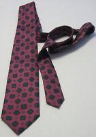 GIORGIONE DARK PINK 100% Silk Men's Necktie (Made in Italy)