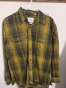 our legacy button up flannel check shirt size 48