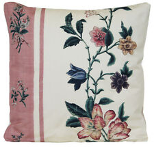 Floral Cushion Cover Pierre Frey Fabric Eugenia Printed Green Silk Pillow Case