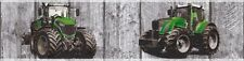 Kinder Tapeten Borte Trecker Traktor Holz-Optik grau grün 35843-1 (25,92€/1qm)