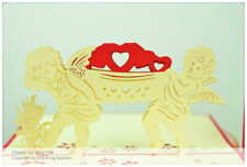 3D Greeting Card Faeries Hold Love Valentine's Day Anniversary Gift For Partner