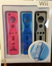 wii remote gloves 3 pack in original packaging. Pink, blue, black.