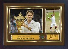 Roger Federer signed autographed Tennis Memorabilia Grand Slam Framed #004