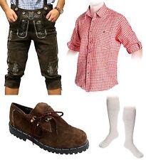 5-teiliges Trachtenset B Trachtenlederhose 46-60 Träger,Schuhe,Hemd,lange Socken