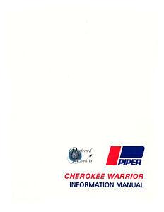 New Surplus Piper PA-28-151 Cherokee Warrior Pilot Information Manual pn 761-563