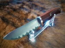 high carbon steel laminate handmade hunting knife,63 HRC, desert ironwood