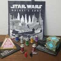 Star Wars Galaxy's Edge RARE Black Kyber Crystal (Snoke), Jedi Sith Holocron Set