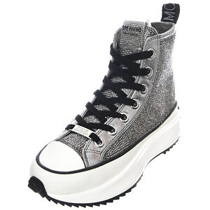 STEVE MADDEN Shark-R Shoes -fabric/Stones Pewter - Shoes Lace-Up Woman