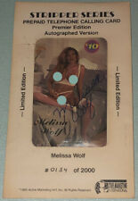 Melissa Wolf Stripper Series Phone Card Autographed Version 1995 Limited Edition