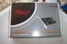 Rosewill 5-Port USB 2.0 PCI Adapter New in Sealed Box