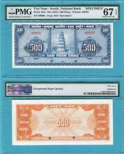 Vietnam South 500 Dong P10s2 UNC - Specimen / PMG graded Superb GEM67EPQ