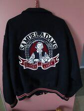Mens Samuel Adams Boston Lager Beer Advertising Logo Size XL Wool Jacket Navy