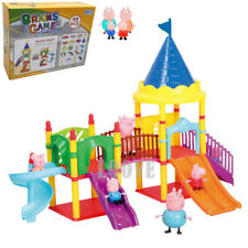 Playground Set Slide+ Peppa Pig Figures Children Plastic Character Kids Gift Toy