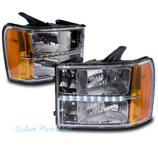 FOR 07-13 GMC SIERRA 1500 2500 3500 HD REPLACEMENT LED BAR HEADLIGHT LAMP CHROME