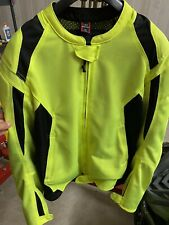 Mens First Gear Hi Viz Motorcycle Mesh Jacket - Large Tall - W/ Armor & Liner