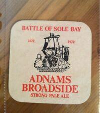 Adnams Broadside battle of sole bay beer mat