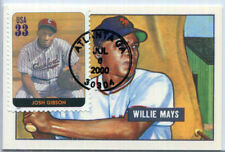 COLLECTIBLE 1986 CCC Willie Mays 1951 Reprint NM card, Josh Gibson stamp FDC