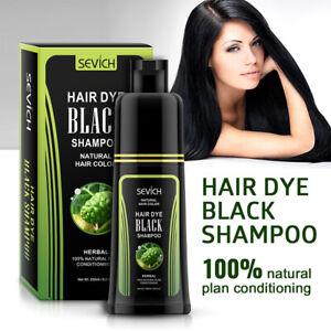 Sevich Instant Hair Dye Black Shampoo Fast Dye Grey/White Moisturising 250ml UK