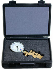 NNI Hydrant Flow Pitot Gauge dynamic or kinetic Test 100Psi/1680 GPM with case