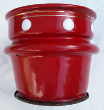 NICE COFFEE FILTER ENAMELWARE GRANITEWARE ANTIQUE FRENCH RED POLKA DOTS ART DECO