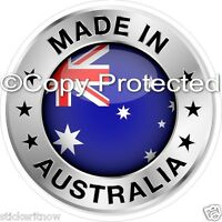 Made In Australia Aussie Flag Bumper Sticker 100mm Decal Car Caravan Ute rv 4x4