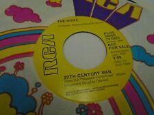 The Kinks 20th Century Man / Skin and Bone 45 RPM RCA Records EX