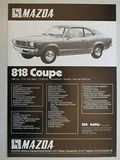 Prospekt Mazda 818 Coupe, 1971, 2 Seiten mit Preisangabe, deutsch