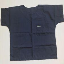 SCRUB MED Women's Scrub Top Navy Blue  Size 10-12 VGUC