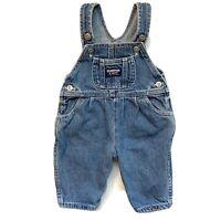 Vintage Baby Girl Osh Kosh 3-6 Month Denim Vestbak Pleated Jean Overalls