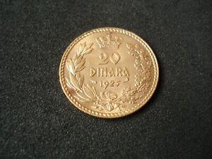Yugoslavia Kingdom, 20 Dinara, 1925, gold