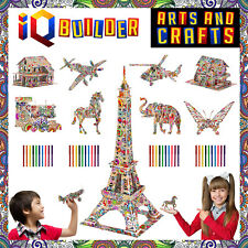 AUTHENTIC - IQ BUILDER ARTS & CRAFTS FOR KIDS AGE 7 & UP | 3D ART PUZZLES ANIMAL