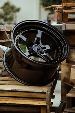 Aodhan DS05 19x9.5 19x11 +22 5x114.3 Gloss Black 240sx Mustang 300zx Genesis