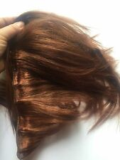 Human Hair Rooting Reborn Babies Toddlers Copper Auburn Straight  NOT Mohair