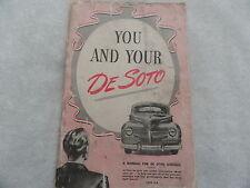 1940 1941 DeSoto  De Soto  Owners  Manual