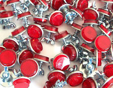 20 RED MINI REFLECTORS LICENSE PLATE MOTORCYCLE BIKE CAR TRUCK TRAILER