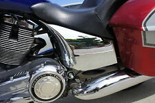 A Pair Chrome Side Cover Covers fit Victory Cross Country Road. Made with ABS