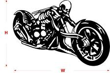 SKELETON MOTORBIKE STICKER / WALL STICKER / Wall Quote / Wall art /    N71