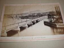 Cdv cabinet old photograph Geneva and Mont Blanc Switzerland c1880s