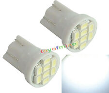 2X T10 W5W 158 168 194 501 8 Blanc LED SMD Wedge ampoule lampe DC 12V