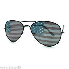LOT OF 10 American USA Flag Aviator Sunglasses Patriotic Stars Stripes Black