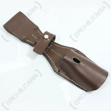 K98 Bayonet Frog Brown - WW2 Repro Leather Sheath Strap Webbing Carrier Army New