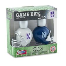 NORTHWESTERN UNIVERSITY NAIL POLISH SET-NORTHWESTERN WILDCATS STATE POLISH-2 PK