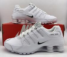 Nike Shox NZ EU Retro Triple White Black 501524-106 Sneakers Mens Size