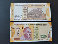 India Rs 200 Rupees NEW 2017 UNC Gandhi UNC NOTE with serial number 786