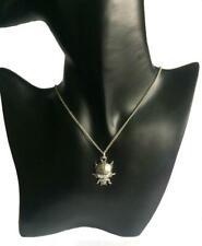Marienkäfer Halskette, Handarbeit aus Feinem Englischen Zinn. (Marienkäfer)