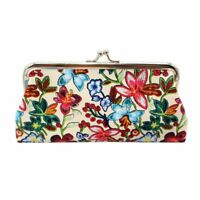 Leathers Handbags Retro Printing Flowers Wallet Coin Purse For Women New Fashion