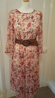 Marks and Spencer floaty sheer dress size 12 floral print Any Occasion