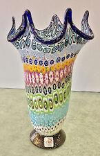 Vaso in vetro di Murano Millefiori